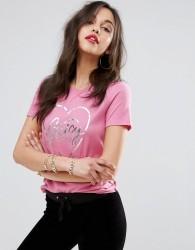 Juicy Couture Foil Logo T-Shirt - Pink