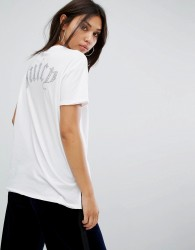 Juicy Couture Hi Lo T-Shirt with Back Logo - White