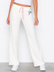 Juicy Couture Juicy Shimmer Script Velour Del Rey Pant Bukser Natural