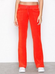 Juicy Couture Velour Del Rey Pant Bukser Bright Red
