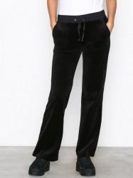 Juicy Couture Velour Del Rey Pant Bukser Pitch Black