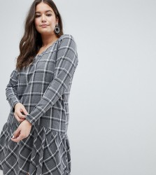 Junarose Check Drop Waist Dress - Multi