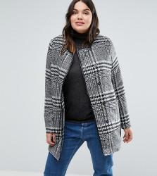 Junarose Plus Coat In Check - Multi