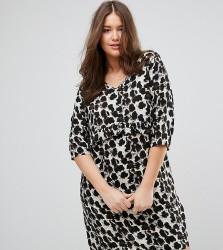 Junarose Printed Frill Shift Dress - Multi
