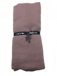 Just d'lux - Single coloured scarf - Dark rose