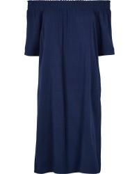 Just Female Tam off shoulder dress (Navy, S)