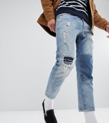 Just Junkies Cropped Patch Jean - Blue