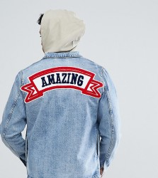 Just Junkies Denim Jacket With Amazing Back Patch - Blue
