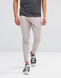 Just Junkies Drop Plain Trousers - Beige