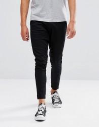 Just Junkies Drop Plain Trousers - Black