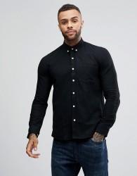 Just Junkies Linen Mix Shirt - Black