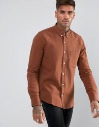 Just Junkies Linen Mix Shirt - Brown
