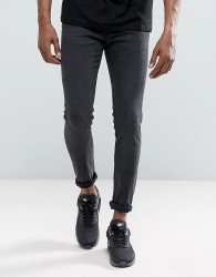 Just Junkies Max Spray On Second Skin Fit Jeans in Washed Grey - Grey