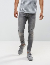 Just Junkies mAX sUPER Skinny Jeans In Grey Wash - Grey