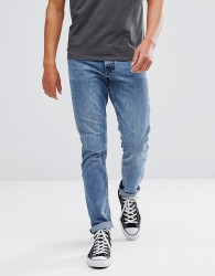 Just Junkies Straight Fit Jeans in Light Blue Wash - Blue