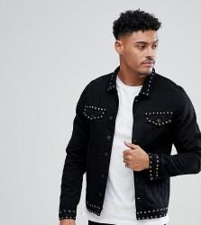 Just Junkies Studded Denim Jacket - Black