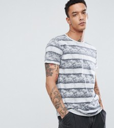 Just Junkies T-Shirt With Stripe - White