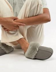 Just Sheepskin Mule Slippers - Grey