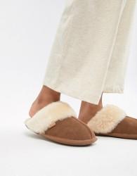 Just Sheepskin Mule Slippers - Tan