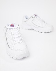 K-Swiss ST529 heritage chunky sole trainers in white - White