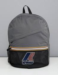 K-Way Le Vrai 3.0 Francois packaway backpack in grey - Grey
