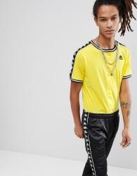 Kappa Banda T-Shirt With Popper Fastening In Yellow - Yellow