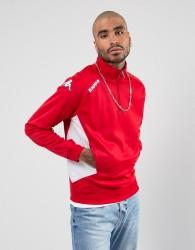 Kappa Foligno Training Sport Half Zip Sweatshirt - Red