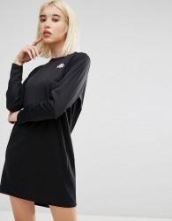 Kappa Long Sleeve Football Jersey Dress In Sports Pinstripe - Black