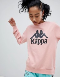 Kappa Oversized Sweatshirt With Large Front Logo - Pink