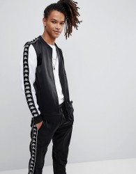 Kappa Poly Tricot Banda Track Jacket In Black - Black