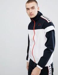 Kappa Track Jacket With Banda Taping Panel - White
