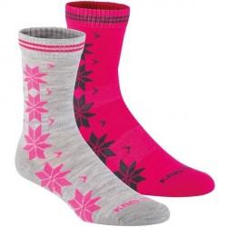 Kari Traa 2-pak Vinst Wool Sock - Grey/Pink * Kampagne *