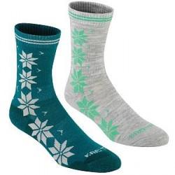 Kari Traa 2-pak Vinst Wool Sock - Grey/Turquoise * Kampagne *