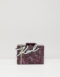Karl Lagerfeld glitter shine minaudiere box bag - Multi