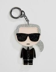 Karl Lagerfeld iconic karl plexi keyring - Black