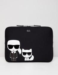 Karl Lagerfeld iconic laptop sleeve - Black