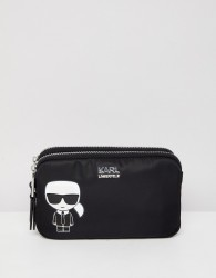 Karl Lagerfeld iconic nylon pouch bag - Black
