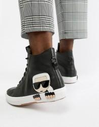 Karl Lagerfeld Kampus hi top trainers in black - Black