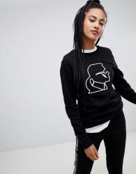 Karl Lagerfeld karl lightening bolt sweatshirt - Black