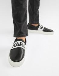 Karl Lagerfeld Kupsole Band slip on trainers in black - Black