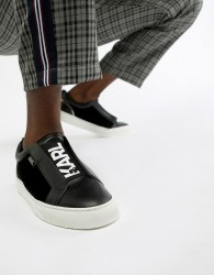 Karl Lagerfeld Kupsole slip on trainers in black - Black