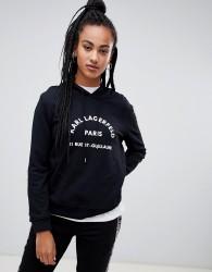 Karl Lagerfeld logo hoodie - Black
