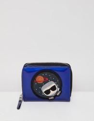 Karl Lagerfeld space zip wallet - Blue