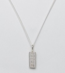 Katie Mullally Hallmark Bar Pendant Necklace - Silver