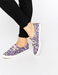 Keds Liberty Meadow Print Plimsoll Trainers - Multi