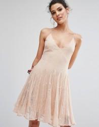 Keepsake Above Water Lace Mini Dress - Pink