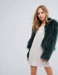 Keepsake Aurora Faux Fur Coat - Green