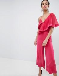 Keepsake Frill Wide Leg Jumpsut - Pink