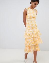 Keepsake lace midi dress - Yellow