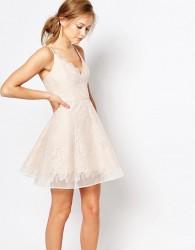 Keepsake Lace Mini Dress - Pink
